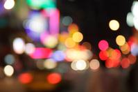 defocused light dots - new york city at night