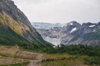 Glacier peeking over the edge