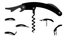 corkscrew silhouette