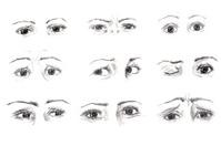 Expression through eyes