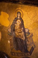 Jesus Christ in Aya Sophia (Haghia Sophiaa), Istanbul, Turkey