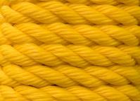 Yellow braided nylon rope