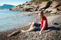 Alone on the beach of Bonaventure Island serie.