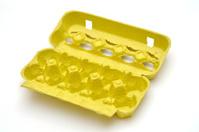 yellow egg carton
