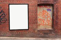 single blank street poster