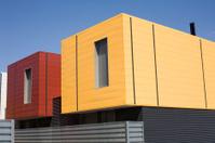 Prefabricated house.