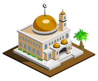 Mosque Icon Isometric