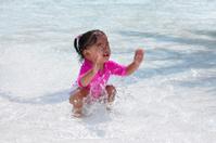 girl enjoying waterpark