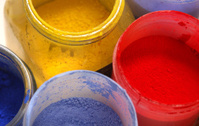 Powdered Paint pigments