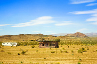 Mojave desert with trailer