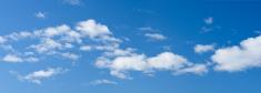 Blue Sky and Cloud Panorama
