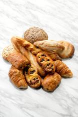 croissants, Danish, pain au chocola, whole wheat buns XXXL