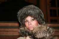Brunette in furs