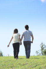 Couple going away