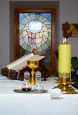 church utensil on altar