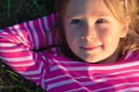 Dreaming little girl