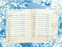 Blue Music Book Background