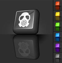 gas mask 3D button design