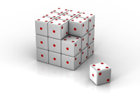 White die cube puzzle