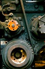 old diesel engine close-up