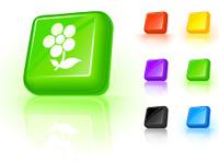 spring flower 3D button design.