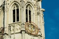 church tower in blue sky