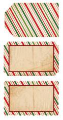 Retro Christmas Tags