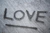 Word Love Written in Concrete
