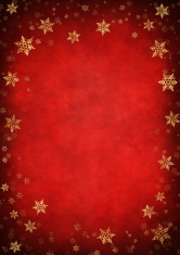 Red And Gold Foil Snowflake Framed Vertical Background