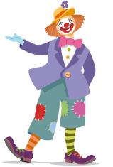Inviting clown