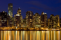Vancouver Skyline with reflections