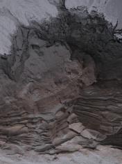 black sand layers