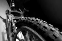 mountain bike with copyspace