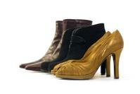 Line up of ladies footwear