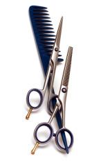 Handle rake and scissors