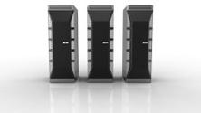 Rack of High Performance Servers