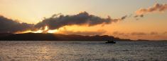 Sea Sunset Dinghy Exploration