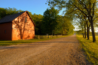 barn and road, southern Minnesota