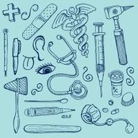 Medical Doctors Office Doodles
