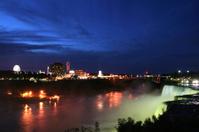 Niagara Falls under lights
