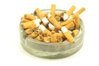 Stubs in ashtray