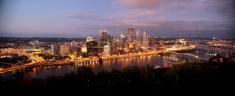 Panoramic image of Pittsburgh Pennsyvania