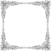 Elegance vector floral frame