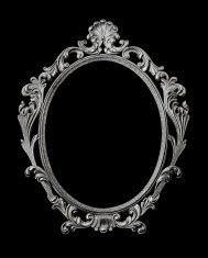 Baroque style picture frame.