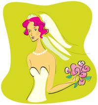 Expressionist illustration of a bride