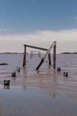Ruined Pier in Colonia Uruguay