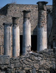 Columns, Pompei, Italy