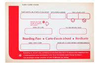 Vintage boarding pass