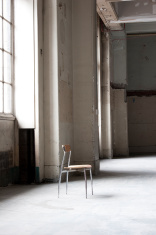 Empty room with chair.