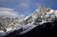 Aiguille du midi, Mont Blanc Massif, from Les Houches